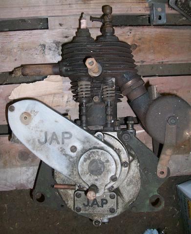 An early 1920s JAP 350cc single side-valve engine,