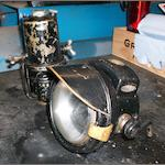 A Lucas 'King of the Road' Model 341 acetylene headlamp and generator,