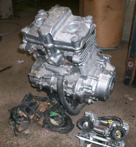 A Honda CB 500T engine,