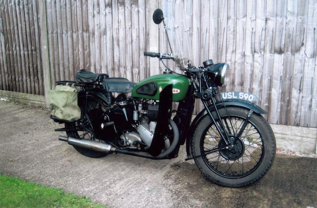 1943 BSA 500cc M20 Frame no. WM20 73326 Engine no. M20 27710