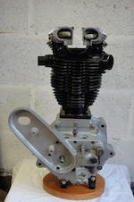 A restored c.1927 Triumph TT twin port 500cc racing engine,