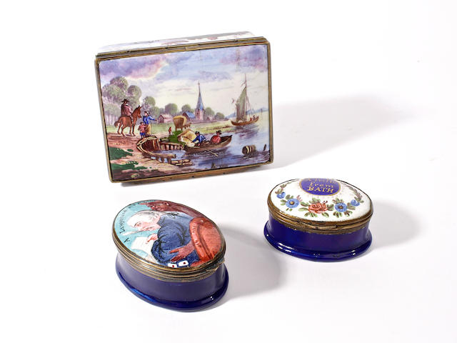 Three Samson enamel boxes, late 19th century