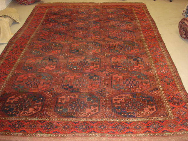 An Ersari carpet, West Turkestan, 341cm x 220cm