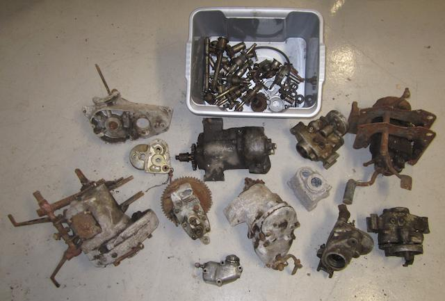 Assorted gearboxes and casings,