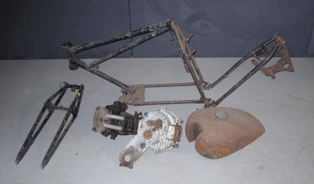 A 1929 Ariel 250cc Lightweight engine and frame,