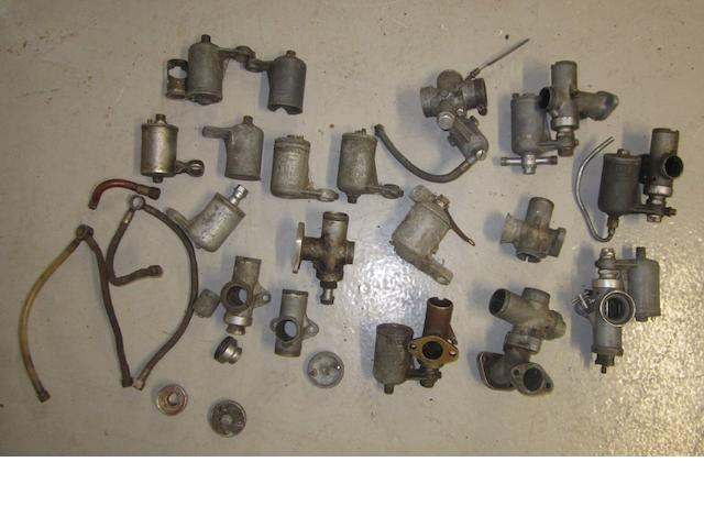 Assorted carburettors and spares,