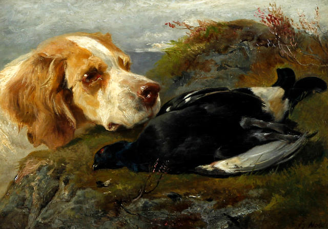 John Sargent Noble, RBA (British, 1848-1896) 'The First Shot of the Season'