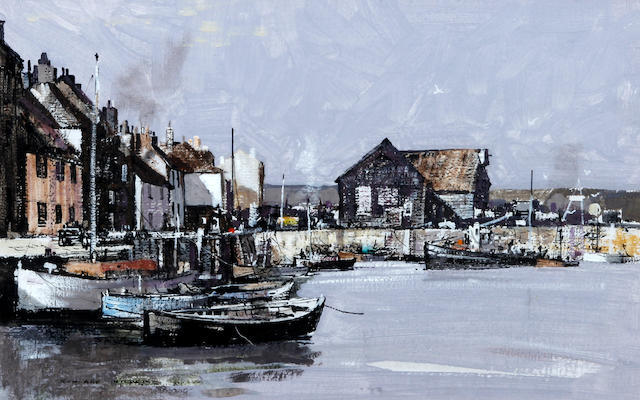 Rowland Hilder (British, 1905-1993) Padstow Harbour