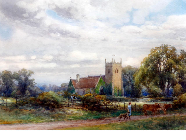 Frank Gresley (British, 1855-1946) Chellaston Church, Derby