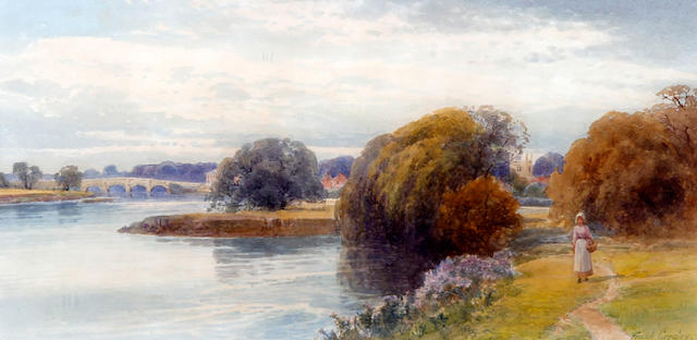 Frank Gresley (British, 1855-1946) On the River Trent and Swarkstone, a pair