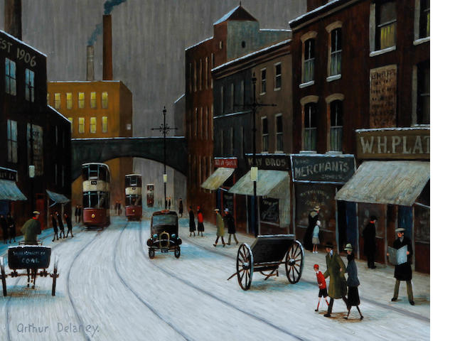Arthur Delaney (British, 1927-1987) A Mill Town