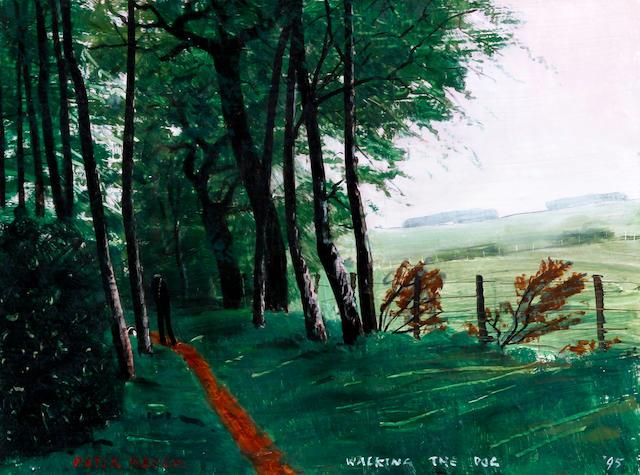 Peter Brook (British, 1927-2009) 'WALKING THE DOG'