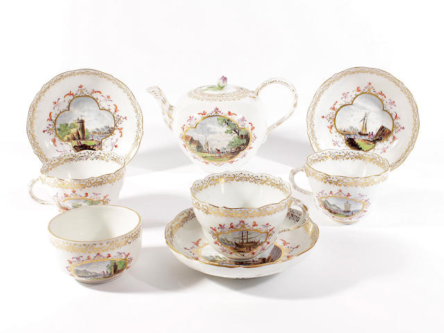 A Meissen part tea service, late 19th century