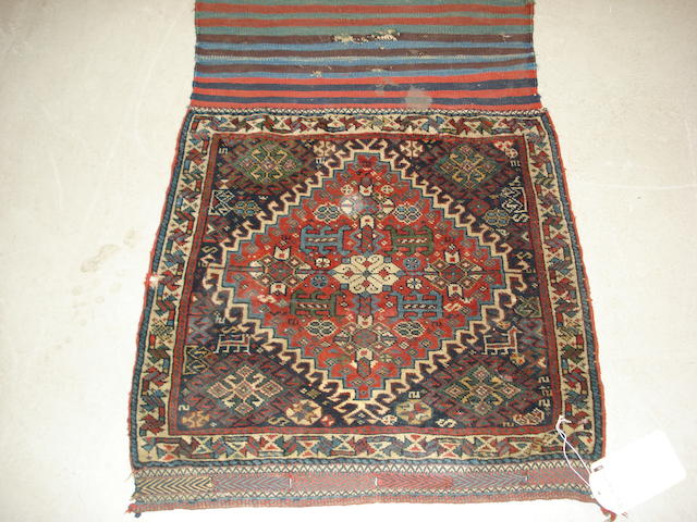 A pair of Kashgai bags, South West Persia, each approx. 60cm x 60cm, with original kilim back