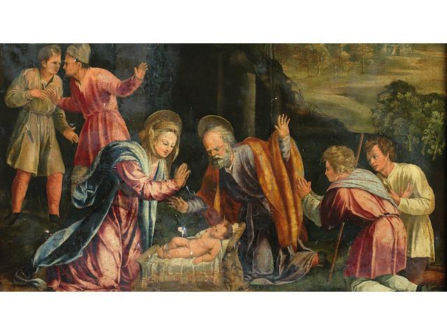 Battista Dossi (San Giovanni del Dosso circa 1490-1548 Ferrara) The Adoration of the Shepherds