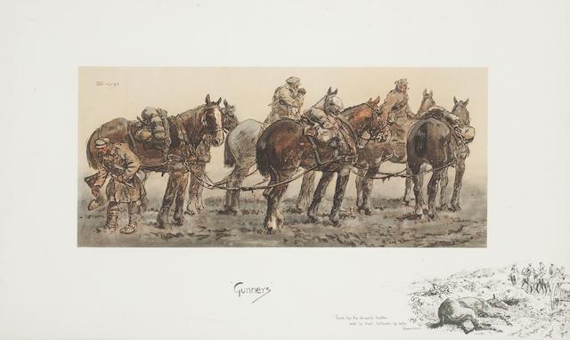 Charlie Johnson Payne, 'Snaffles' (British, 1884-1967) 'Gunners'