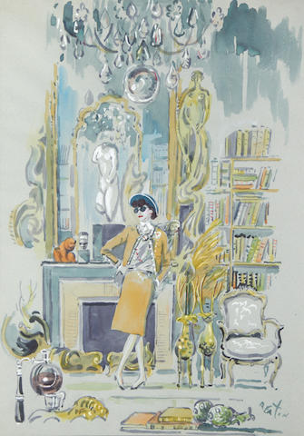 Cecil Beaton (British, 1904-1980) Portrait of Coco Chanel in her salon.