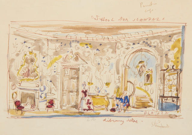 Cecil Beaton (British, 1904-1980) Set design for 'The school for scandal'