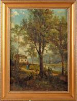 Frank Hider (British, circa 1861-1933) Landscape scenes, a pair,