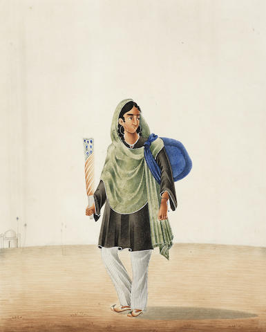 Ten portraits of various tradespeople and other figures including a fakir Patna, circa 1820-30(10)