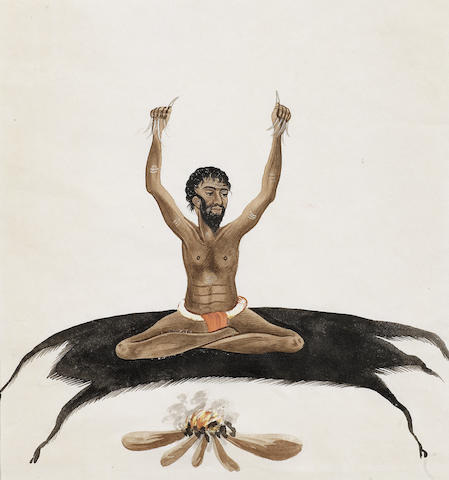 Ten portraits of various tradespeople and a fakir Patna, circa 1820-30(10)
