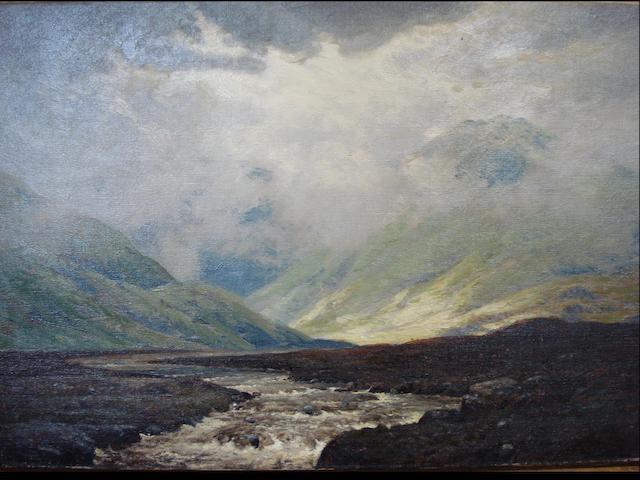 George Melvin Rennie (Scottish, 1874-1953) Morning Mist on Ben Dhui