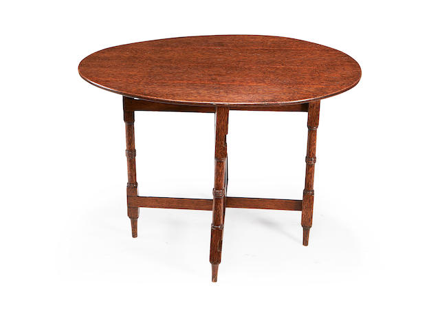 A 19th century palmwood gateleg occasional table