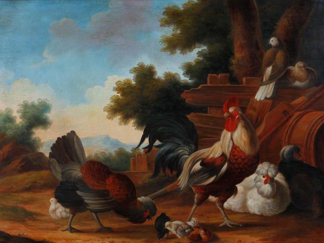 Marmaduke Craddock (circa 1660-circa 1716) Exotic birds in a landscape, a pair