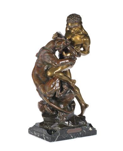 """Edouard Drouot (French, 1859-1945) """"Lutte pour la Vie"""""""