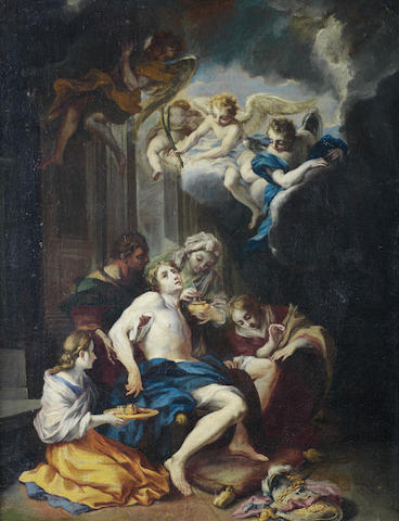 Circle of Corrado Giaquinto (Molfetta 1703-1765 Naples) The Death of St Sebastian