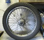 A pair of Dunlop WM2 front and rear wheels for Vincent,