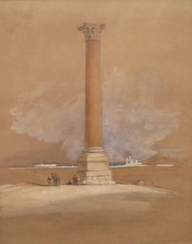 After David Roberts, RA 'Pompey's Pillar, Alexandria'