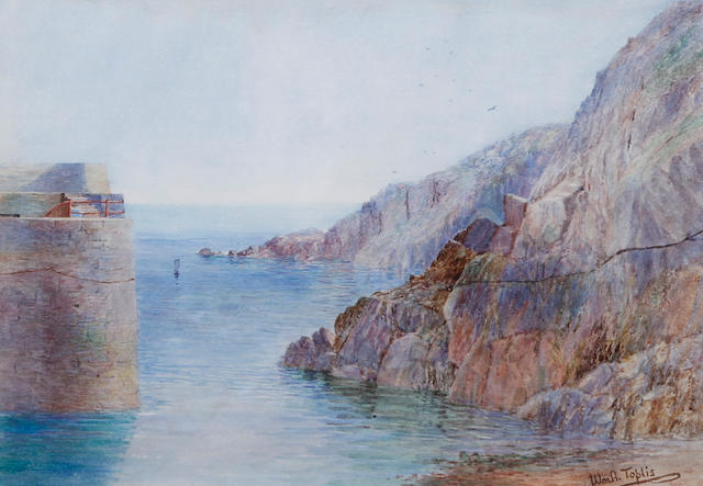 William Arthur Toplis (British, 1857-1942) 'Creux Harbour, Sark'