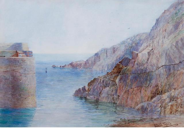 William Arthur Toplis (British, 1857-1942) 'Creux Harbour, Sark'