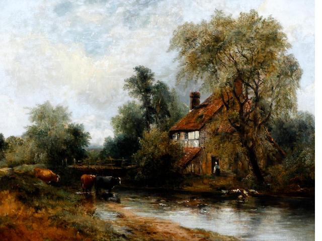 Frederick William 'Waters' Watts (British, 1800-1862) 'In Dedham Vale'