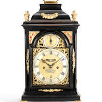 A mid 18th century ebonised bracket clock  William Creak, London