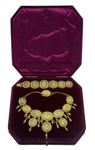 A suite of Victorian Petábgarh jewellery, Indian
