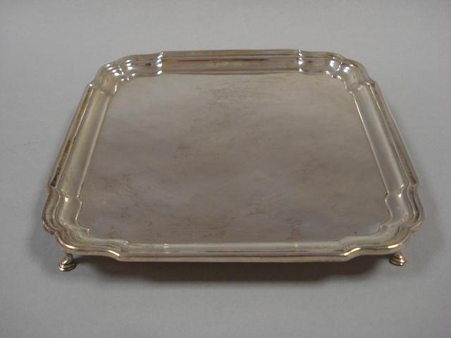 A silver salver by Barker Bothers Silver Ltd Birmingham 1927