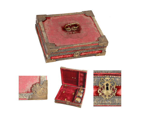 A William III travelling writing box