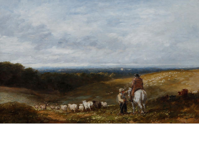 David Cox Snr., OWS (British, 1783-1859) 'Changing Pastures'