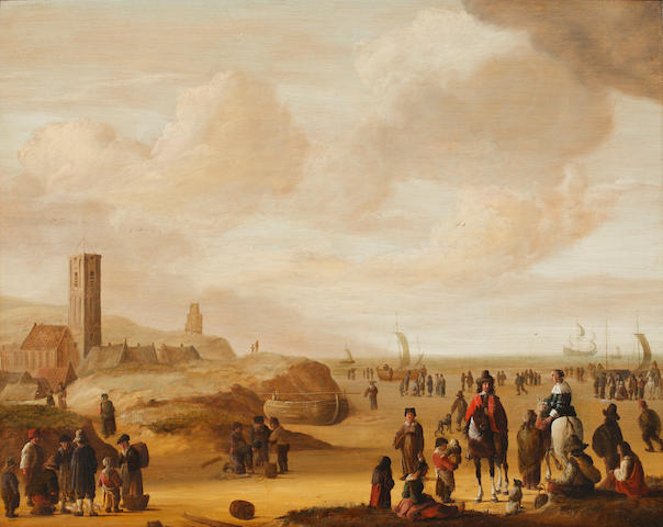 Attributed to Hendrick de Meyer (born circa 1620-1698) The Beach at Scheveningen