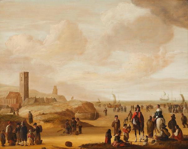 Attributed to Hendrick de Meyer (born circa 1620-1698) The Beach at Scheveningen