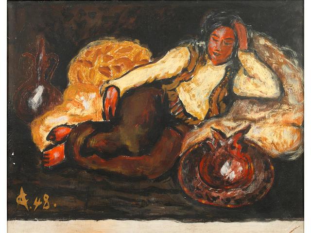 Alexandru Ciucurencu (Romanian, 1903-1977) Odalisque