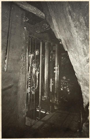 HARZ MOUNTAINS A large album comprising 27 images in the Harz Mountains, mostly topographical but also including three scenes underground in a silver mine, one showing a man engine, [c.1890]