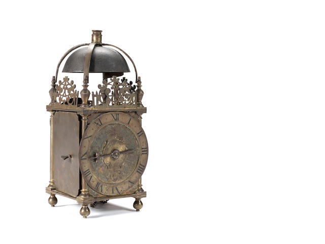 A third quarter 17th Century lantern clock Thomas Knifton, at the Cross Keys in Lothbury