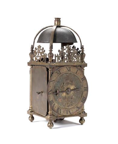 A third quarter 17th Century lantern clock Thomas Knifton, at the Cross Keys in Lothbury