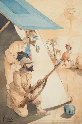 SEM (George Goursat) (French, 1863-1934) 'Cucina Economica  Eritrea'
