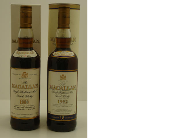 The Macallan-18 year old-1980<BR /> The Macallan-18 year old-1982