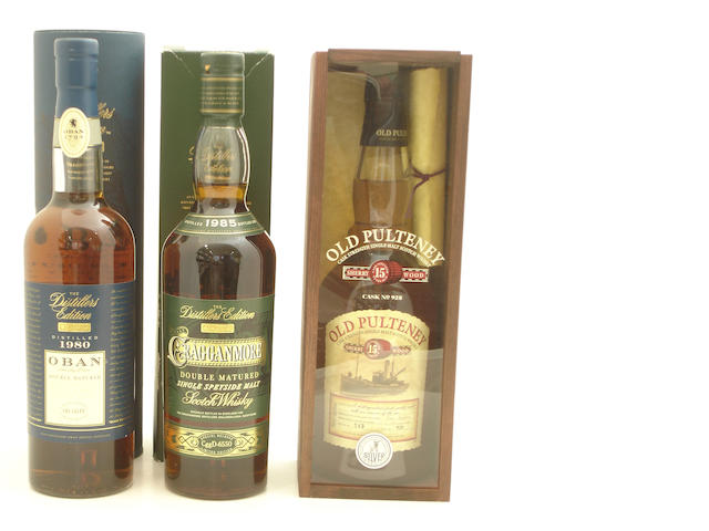 Oban-1980 (2) <BR /> Cragganmore-1985<BR /> Old Pulteney-15 year old