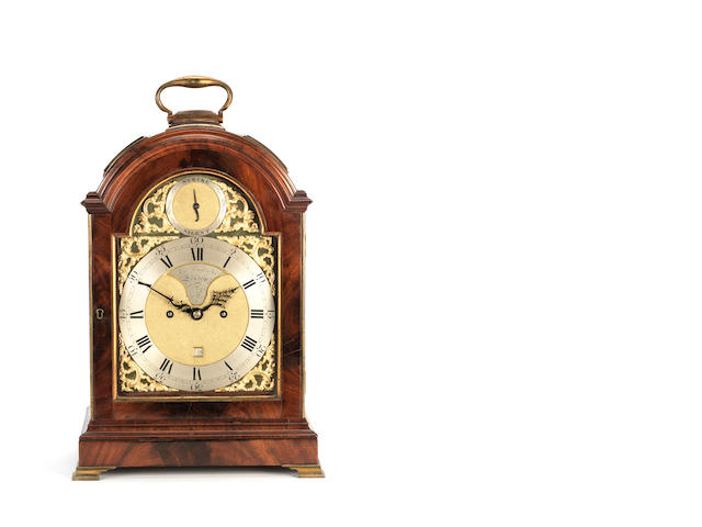 A late 18th century triple pad mahogany bracket clock John Arnold & Son, London